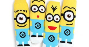 Details about (4 Pairs) Minion Crew Socks Crazy Funny Monster Costume Minions Ju...
