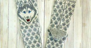 Knitted socks in the style of husky / knee high socks / happy socks / thermal socks / ski socks / designer socks / cool socks / cabin socks