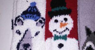 (5) Old Nay Fuzzy Socks Set of 5 Old Navy Fuzzy Socks One Size Polar Bear Snowm...
