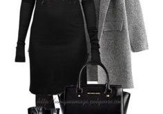 Classy Fall Outfit in Black and Grey