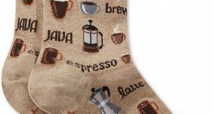 Hot Sox Women's Coffee Fashion Crew Socks - White