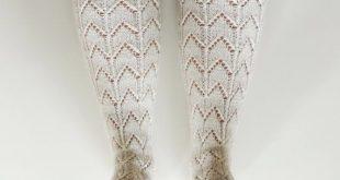 Knee high socks. White boot socks. White wool by GrietaKnits