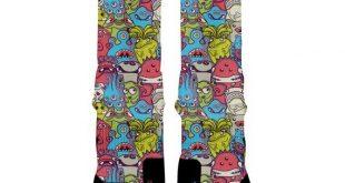MONSTER MASH Custom Nike Elite Socks, All Shoe Sizes, Perfect Funny Gift, Cute Gift, HoopSwagg