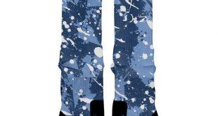 NORTH CAROLINA SPLATTER Camo Custom Nike Elite Socks, All Shoe Sizes, Perfect Funny Gift, Cute Gift,