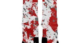 OHIO STATE SPLATTER Custom Nike Elite Socks, All Shoe Sizes, Perfect Funny Gift, Cute Gift, HoopSwag