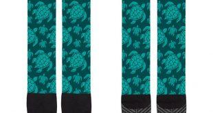 Printed Knee-High Socks - Sea Turtles