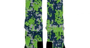 SEATTLE DIGITAL CAMO Custom Nike Elite Socks, All Shoe Sizes, Perfect Funny Gift, Cute Gift, HoopSwa